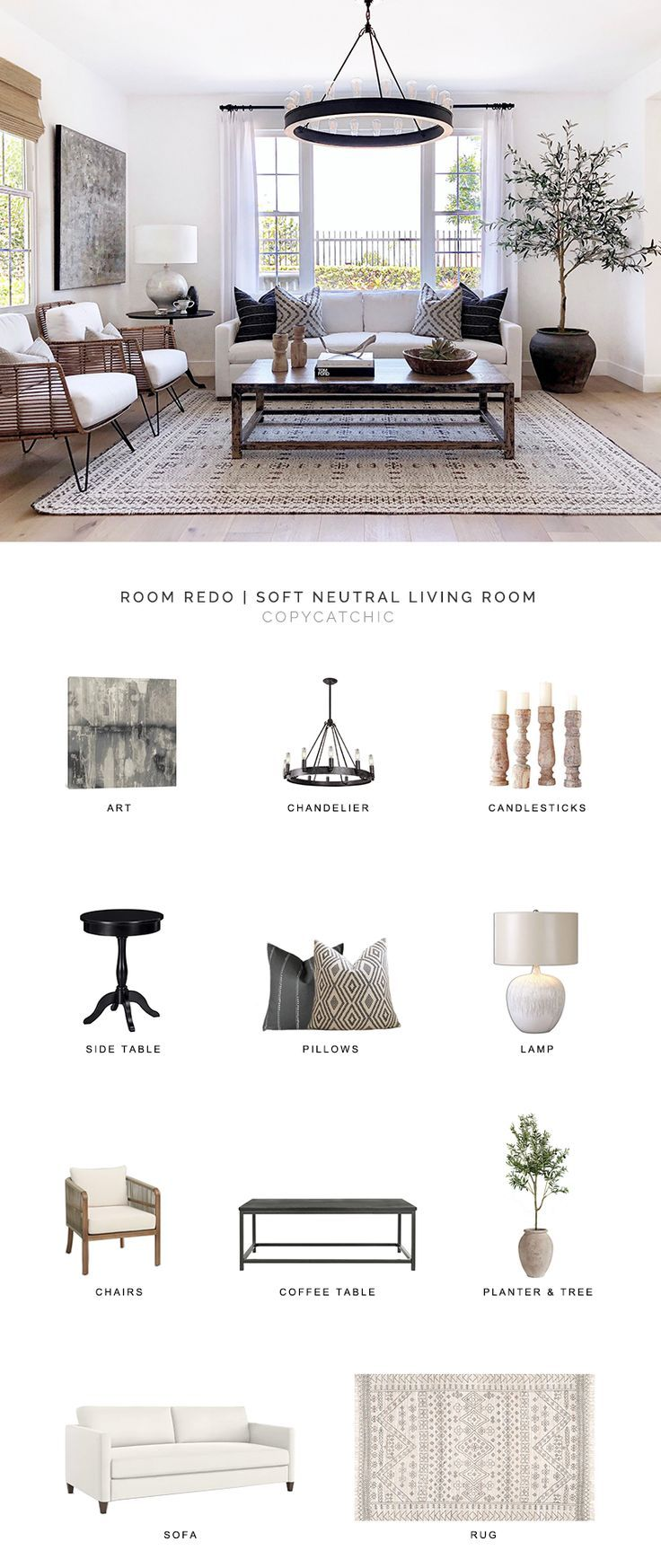 Room Redo | Soft Neutral Living Room - copycatchic