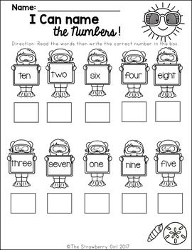 Free Summer Math Worksheet Kindergarten Math Free Kindergarten Math Worksheets Free Kindergarten Math