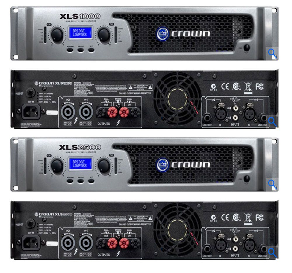 Crown Amplifiers Crown Xls Series Drivecore 1500 Watt Power Amplifiers Audio And