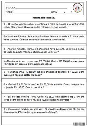 Problemas4 Png 716 1033 Probleminhas De Matematica Atividades De Matematica 3ano Exercicios De Matematica