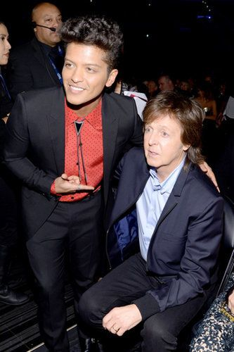 Bruno and Paul McCartney at the GRAMMYs 2014