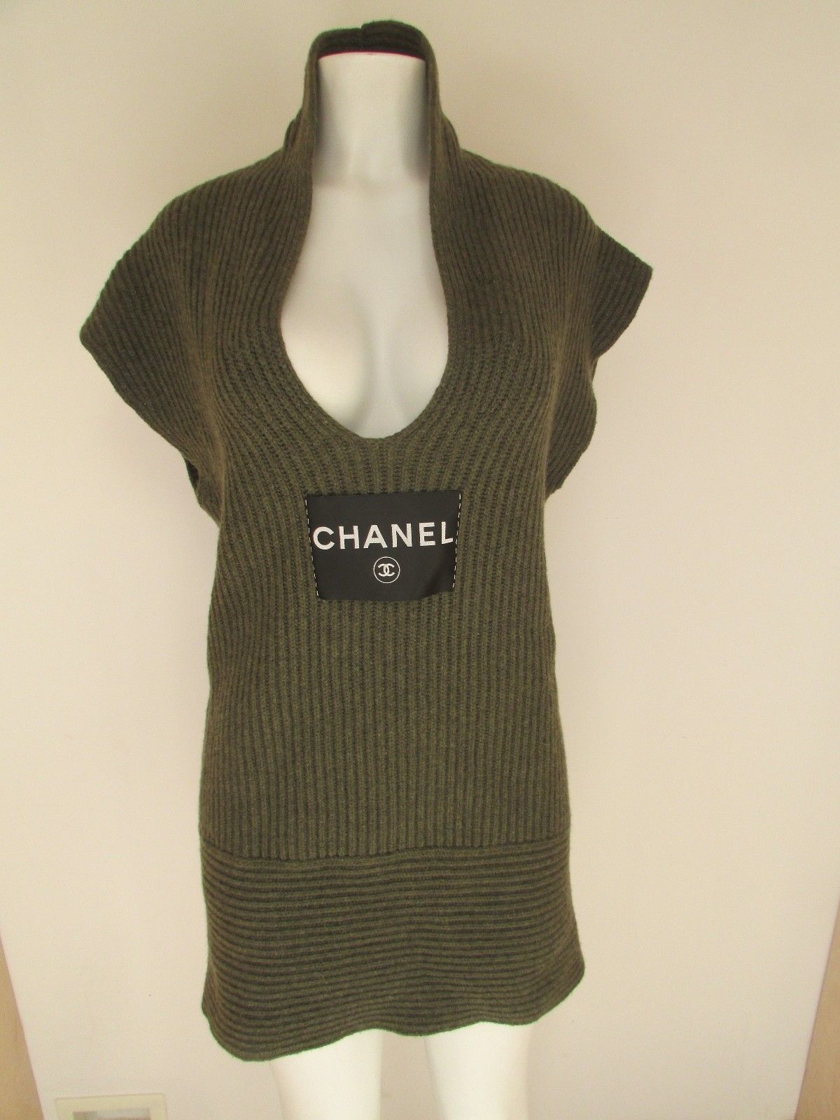 Cool Amazing CHANEL ICONIC 100% CASHMERE SWEATER DRESS TOP 08C ...