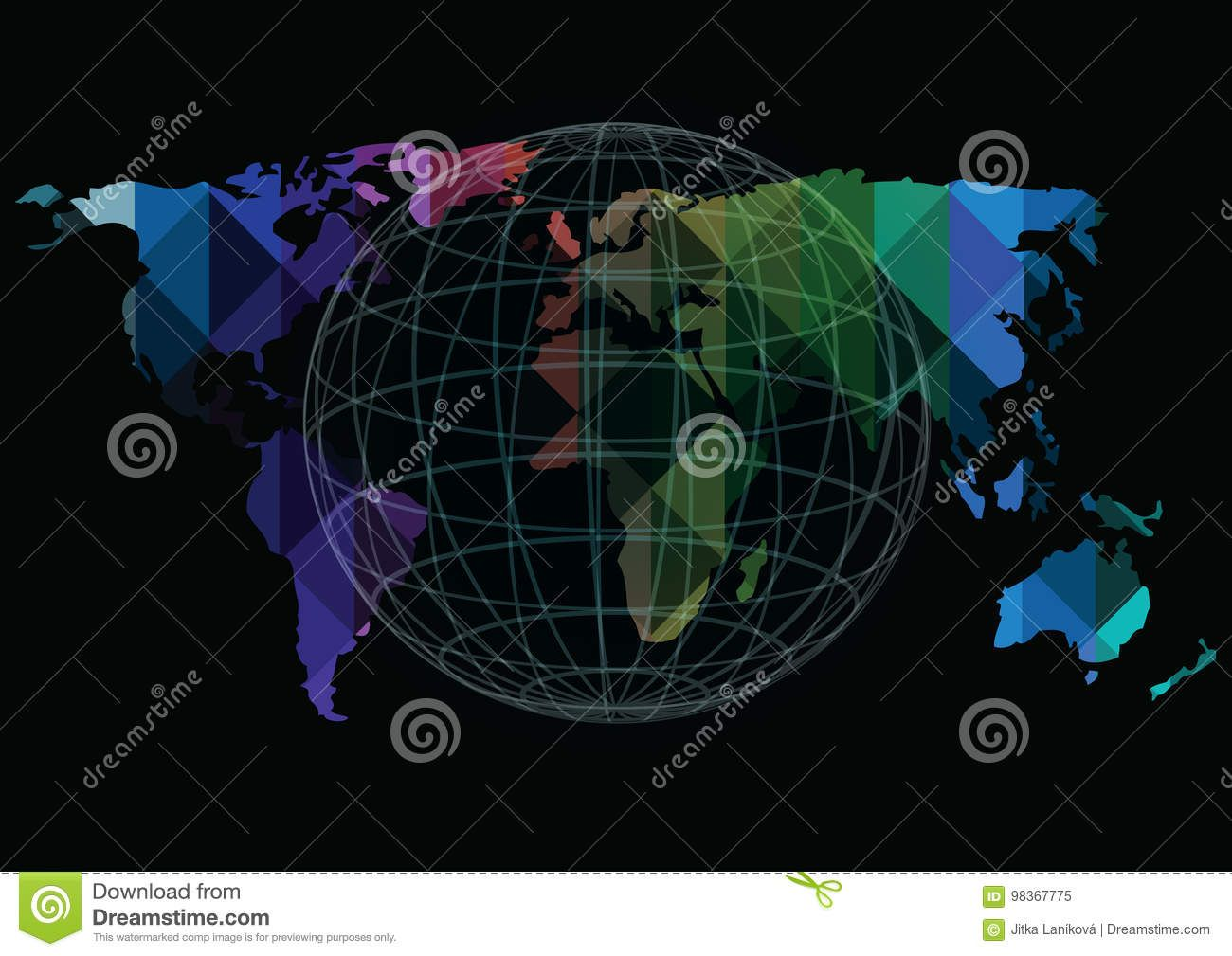 Vector world map and globe icons isolated on black background vector world map and globe icons isolated on black background download from over 66 million gumiabroncs Choice Image