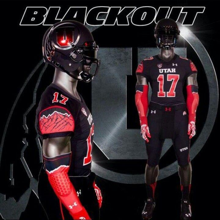 Utah Blackout Uniforms Rugby Jersey Design Football Uniforms U Of U Football