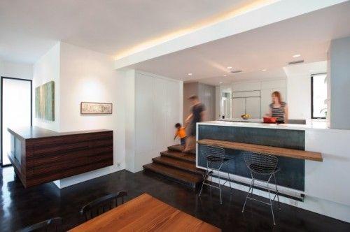 Level Changes Defining Spaces Split Level Home Designs Split Level Kitchen Kitchen Layout