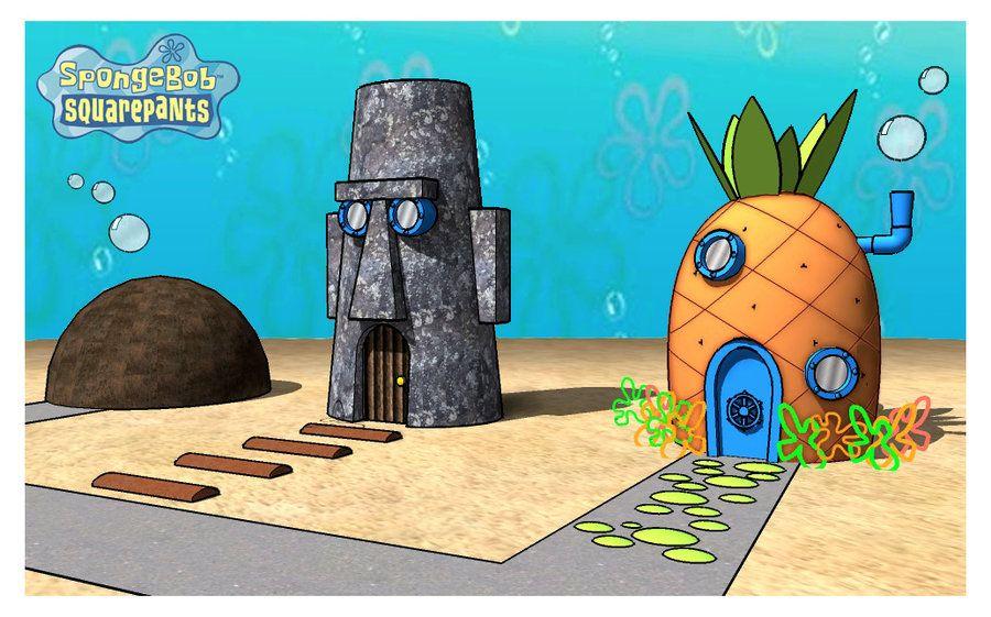 Spongebob S House In 3d By Azeta Deviantart Com On Deviantart