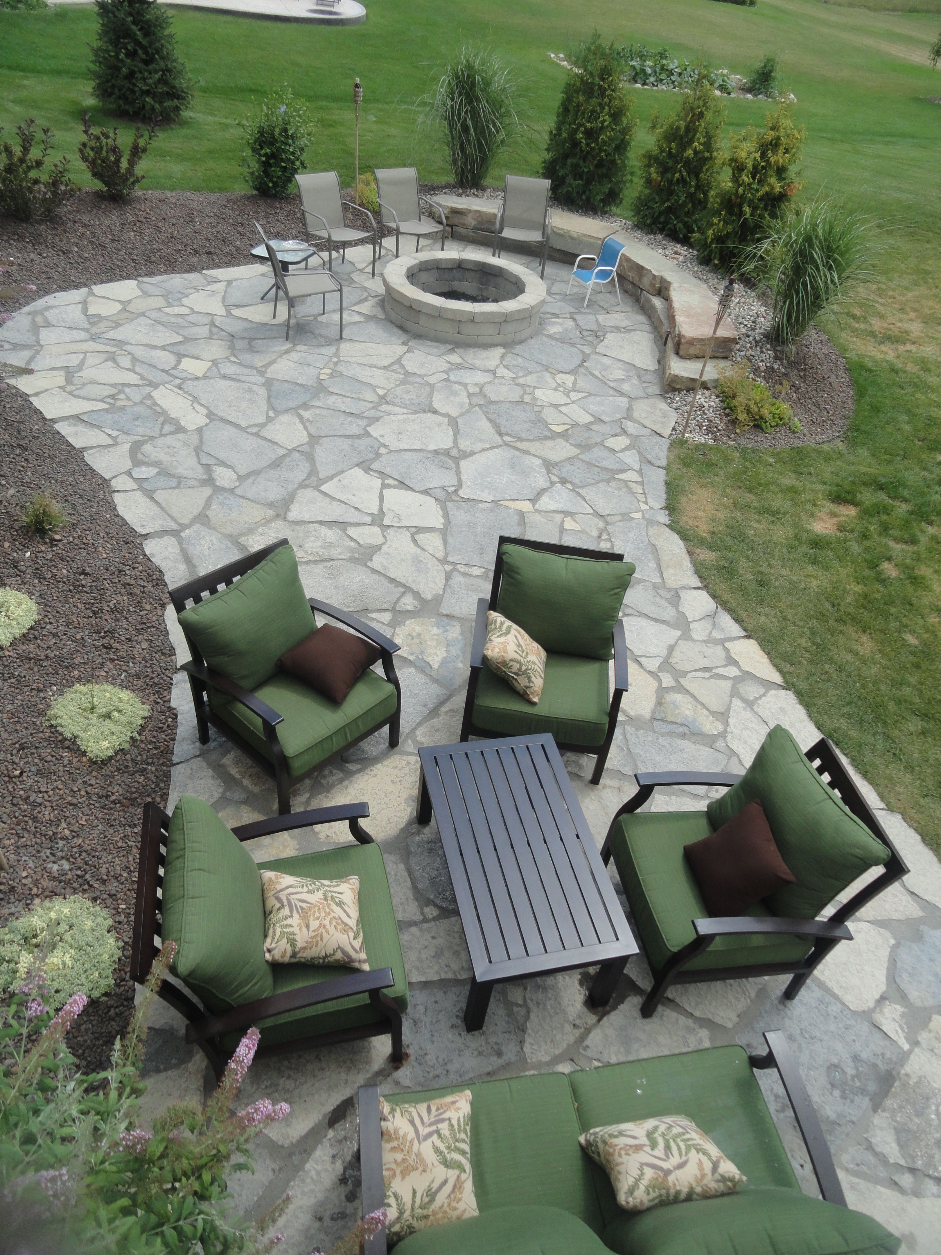 New York Blue Irregular Flagstone Patio. Design And Creation By Frank  Spiker And All Natural