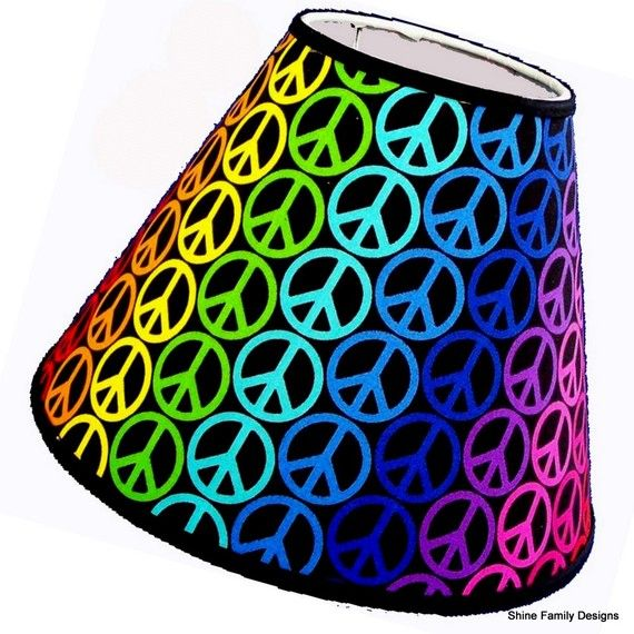 Rainbow peace sign print lamp shade pinterest peace rainbows rainbow peace sign lamp shade aloadofball Gallery