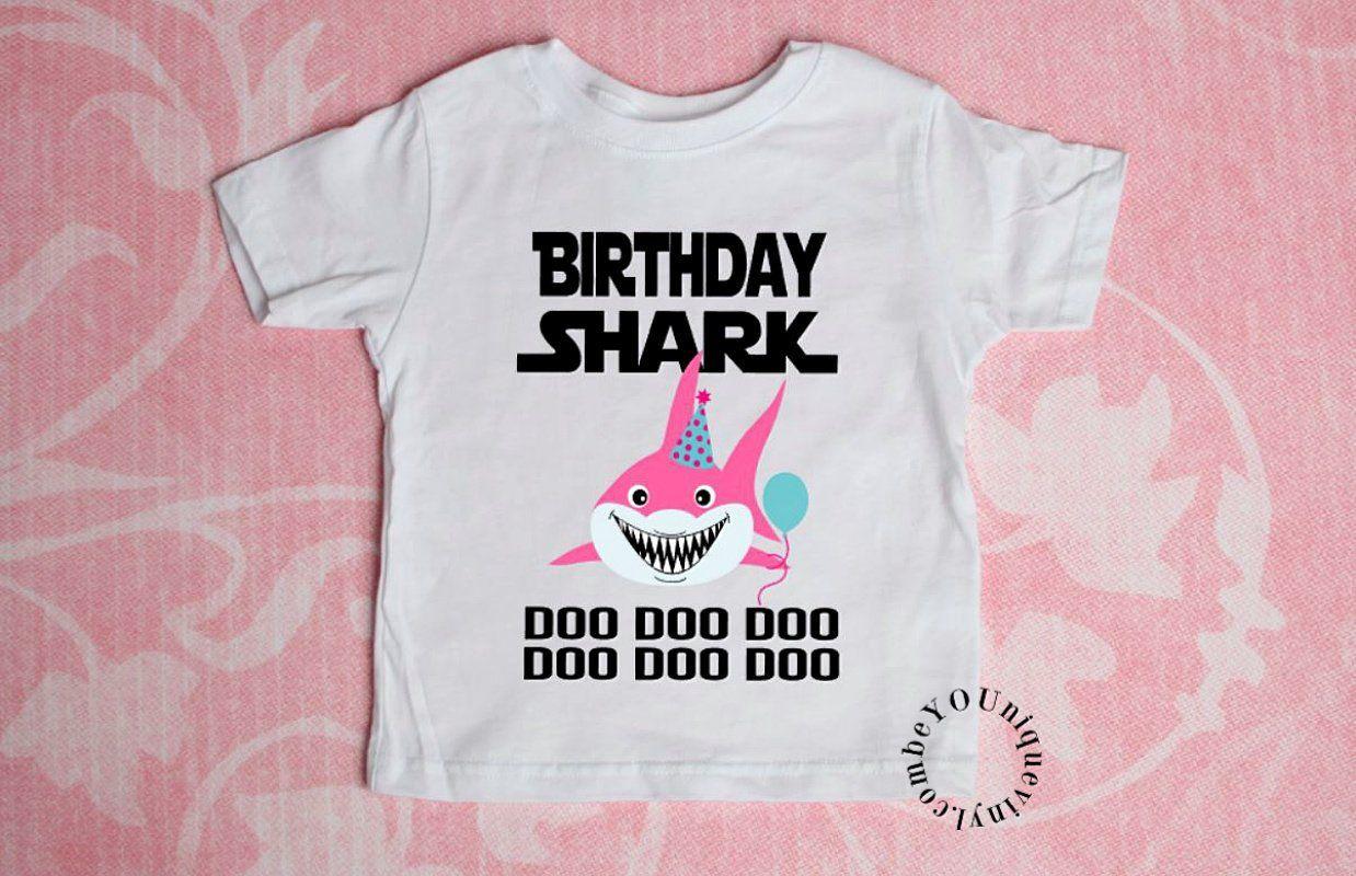 3f2b38139 Birthday Shark Doo Doo Doo Kids T-shirt, Personalized Baby Shark Youth Shirt,  Matching Family Tshirts by BeYouNiqueStore on Etsy