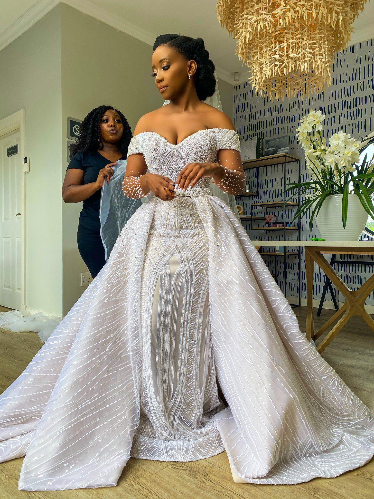 African Designer Wedding Dress