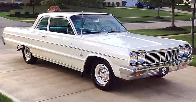 1964 Chevy Bel Air Video Walkaround 2 Door Sedan Chevrolet Bel Air Chevrolet Classy Cars