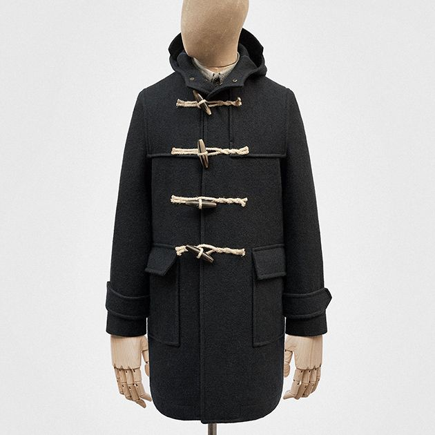 Duffle coat in navy woollen duffle cloth — S.E.H Kelly | Clothing ...