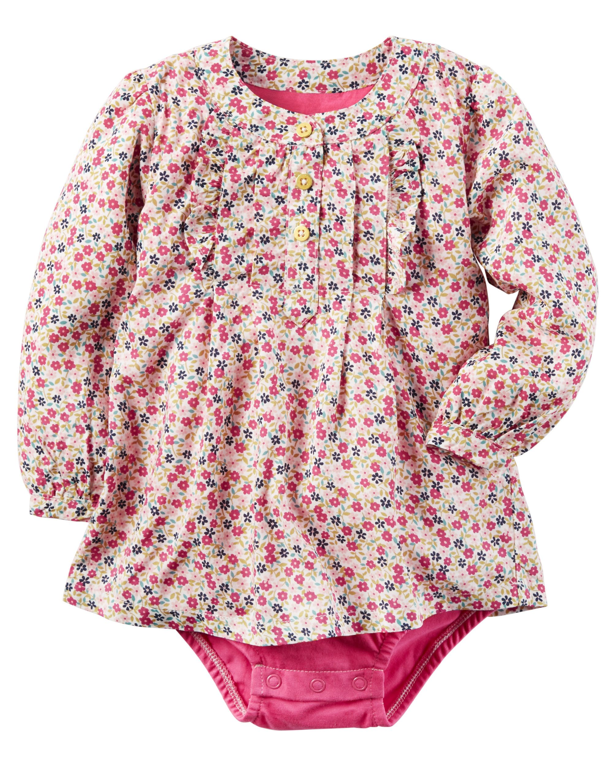 e9b103f1b Baby Girl Floral Poplin Bodysuit from Carters.com. Shop clothing ...