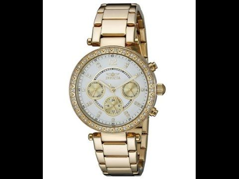 Invicta Women's - 21387 Angel Analog Display Swiss Quartz Gold Watch