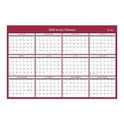 Blue Sky Laminated Dry Erase Yearly Wall Calendar 36 X 24