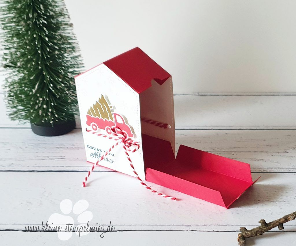 Weihnachtsworkshop Projekt 2 - Weihnachtshäuschen | Kleine Stempelmiez – Basteln aus Liebe