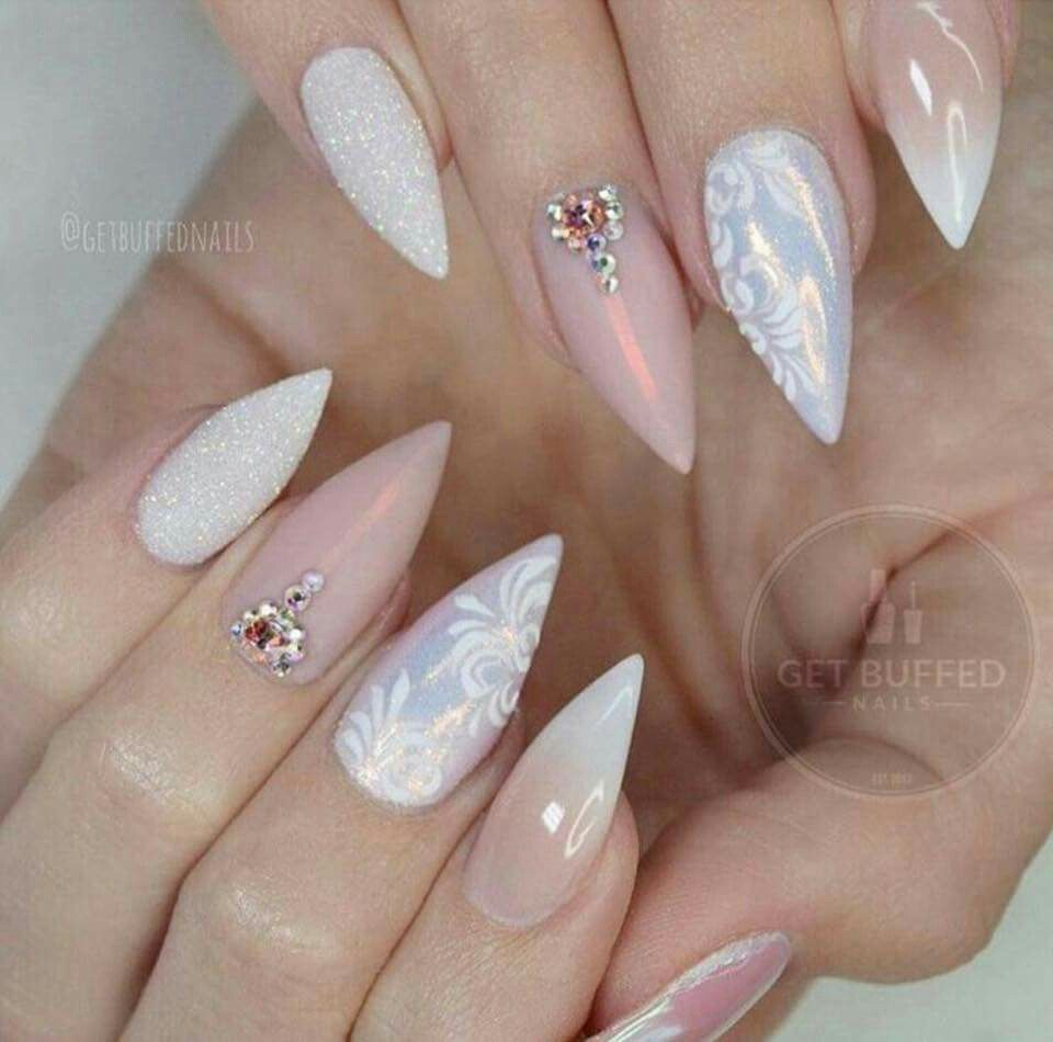 Pin by Kamila Em on Paznokcie   Pinterest   Gem nails, Dream nails ...