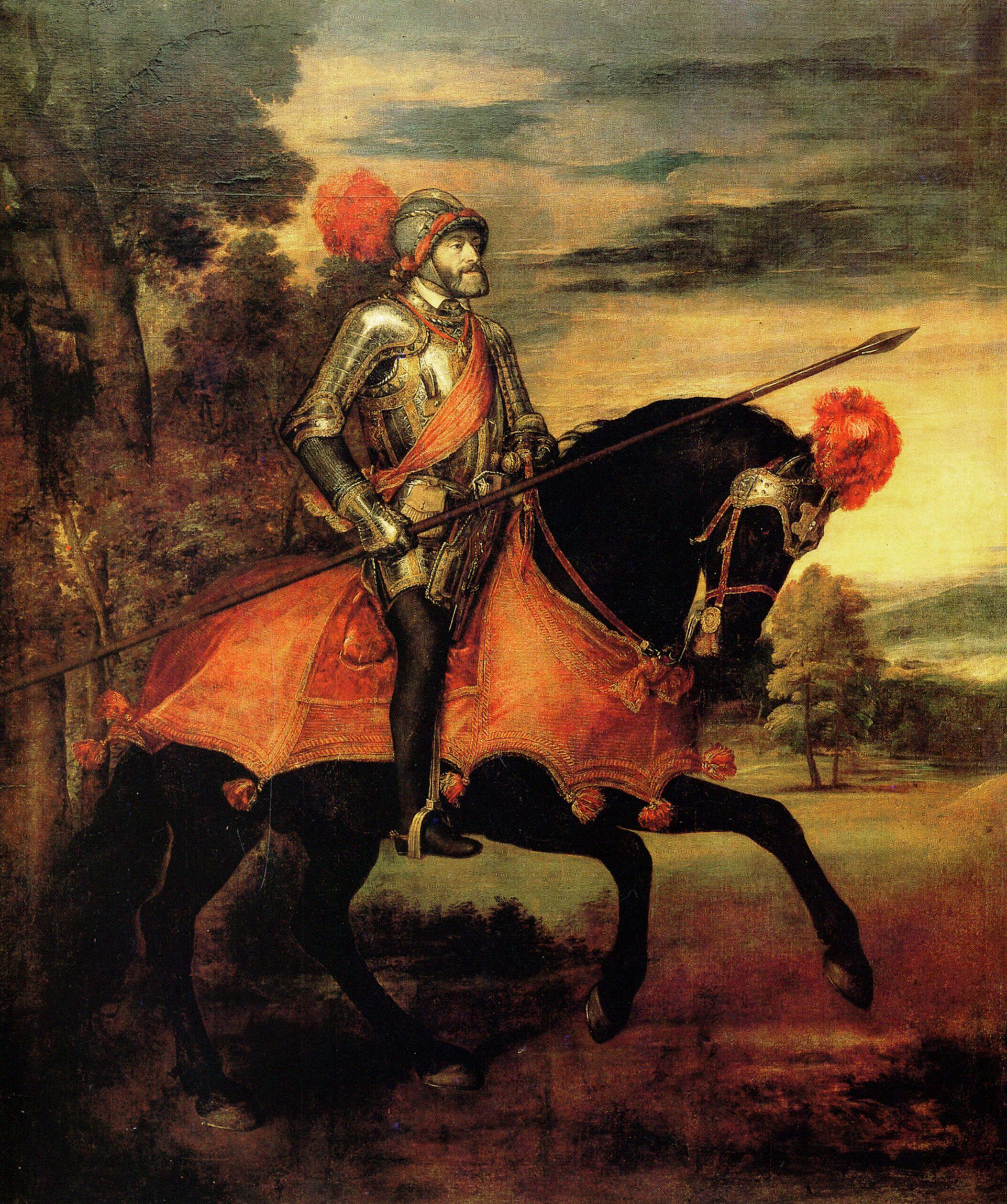 Equestrian Portrait of Charles V (also Emperor Charles V