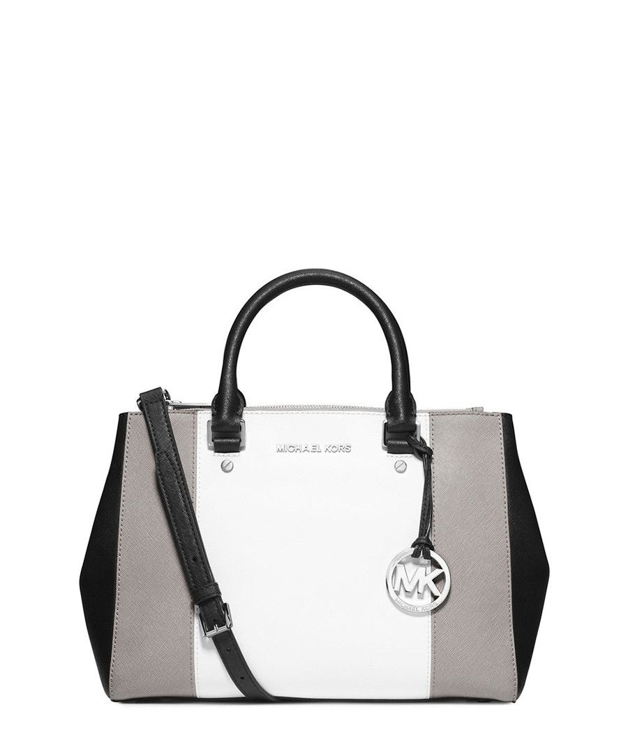 black and gray michael kors bag f759  Sutton tri-tone grey leather tote by Michael Kors on secretsalescom