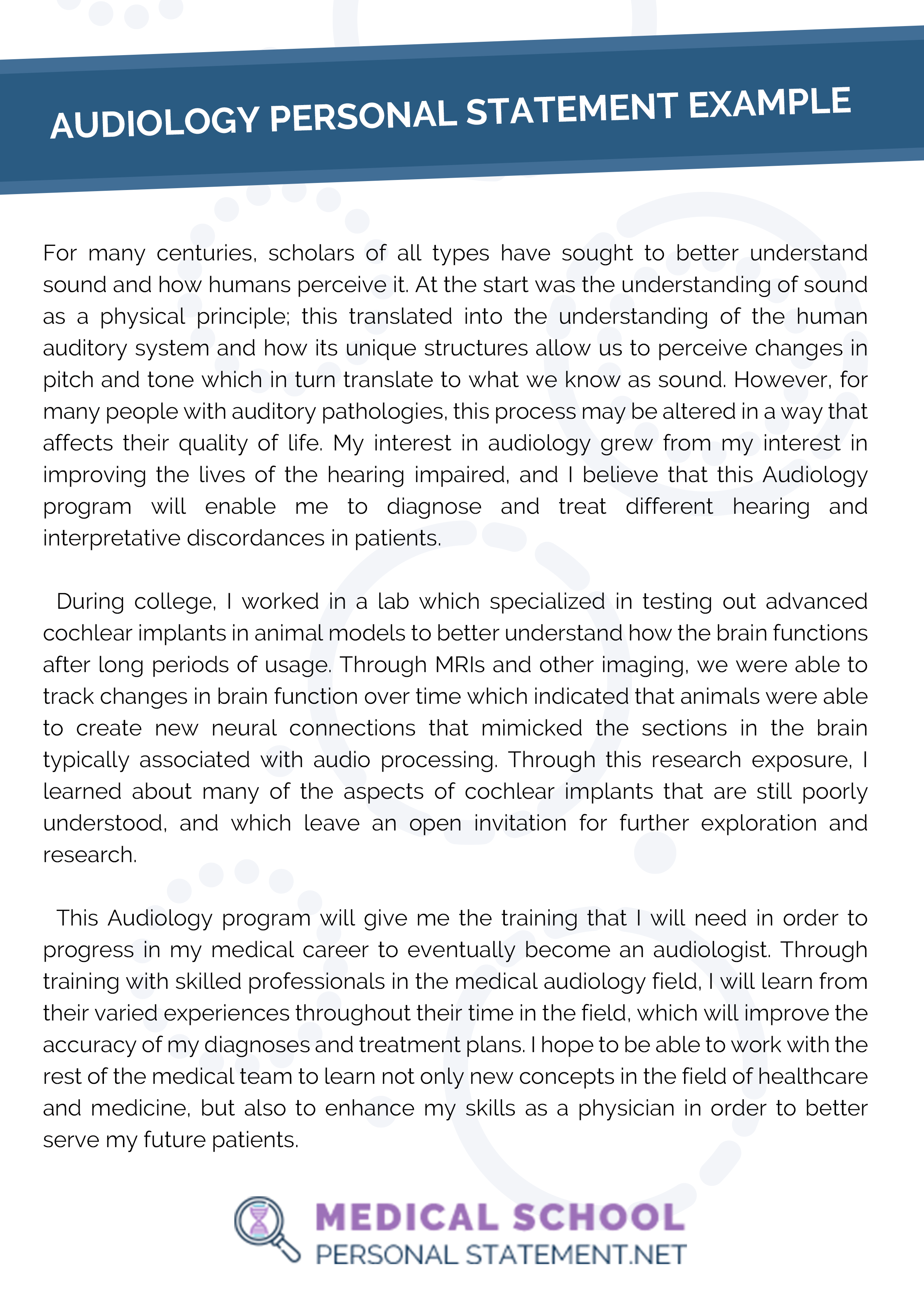 Audiology Personal Statement Example Personal Statement Examples Personal Statement Audiology [ 3508 x 2480 Pixel ]
