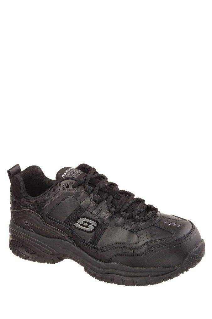 Mens Skechers Soft Stride Work Shoes Black | Skechers