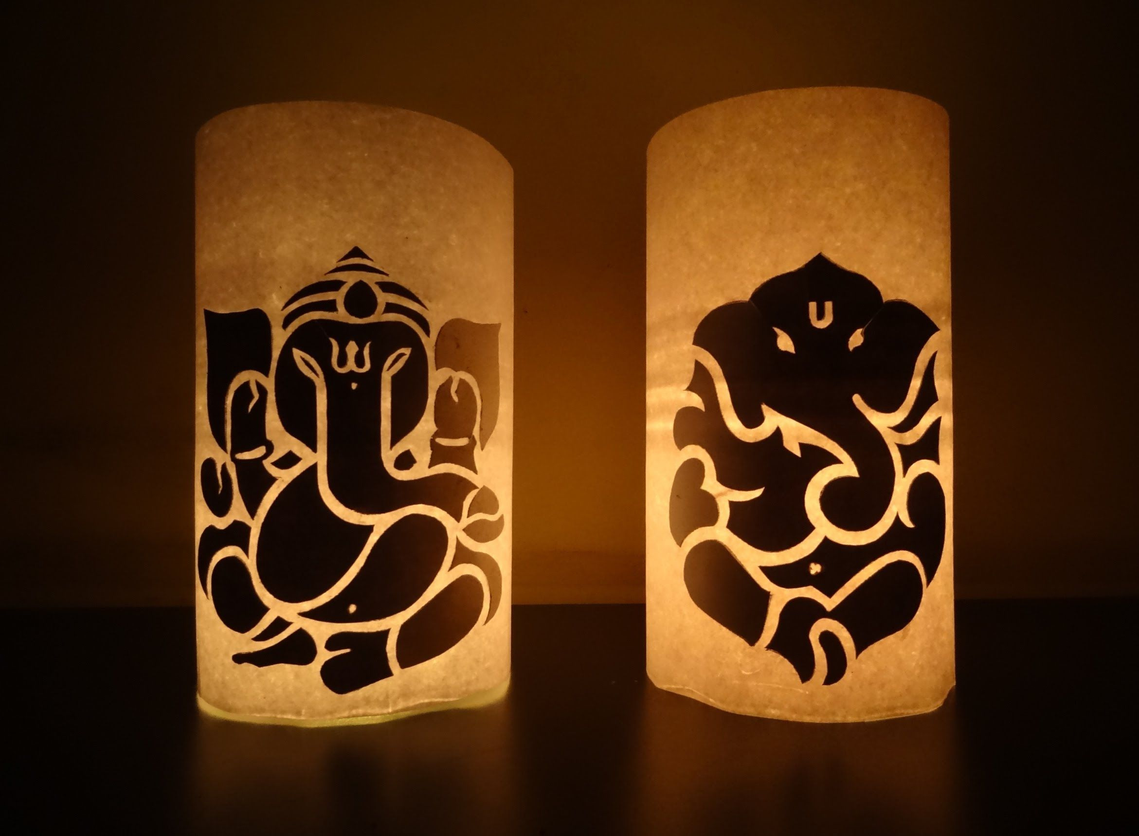 Paper Crafts (Diwali Decoration Ideas) : Candle illuminated Lord ... for Diy Paper Lamp Ideas  66plt