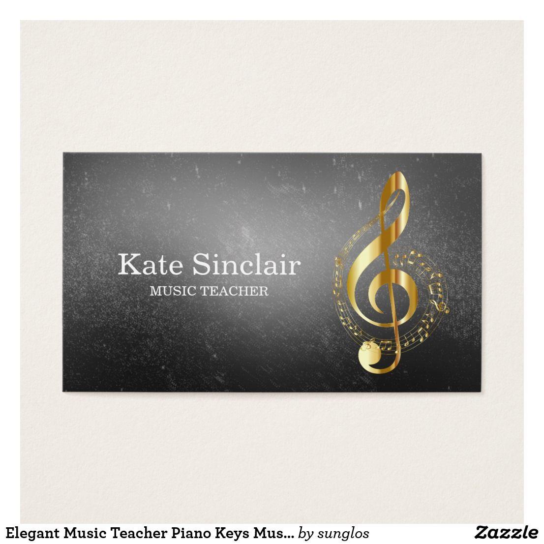 Elegant Music Teacher Piano Keys Musical