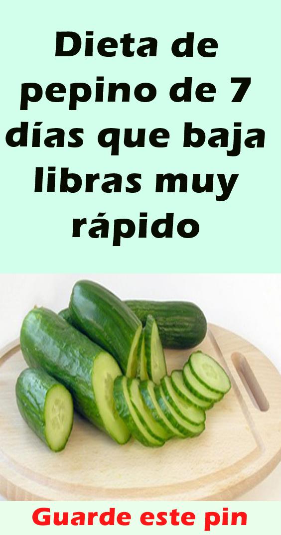 Dieta De Pepino De 7 Días Que Baja Libras Muy Rápido Planes De Alimentación Alimentos Organicos Dieta Del Pepino