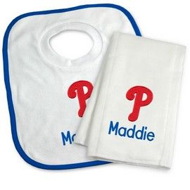 Philadelphia phillies personalized bib and burp cloth gift set philadelphia phillies personalized bib and burp cloth gift set philadelphia phillies at personalized gifts for babies negle Image collections