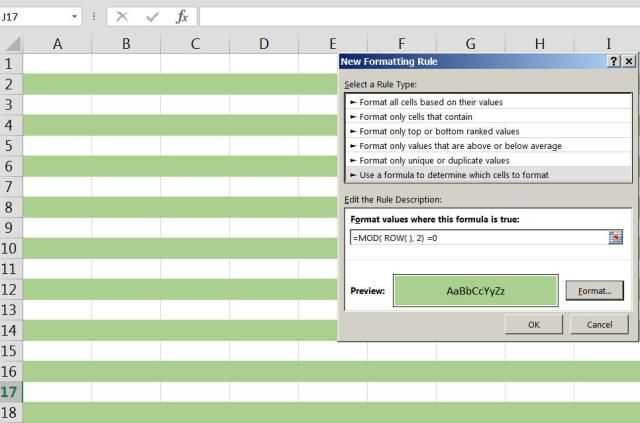 Learn To Shade Alternate Rows With Excel Conditional Formatting Excel The Row Shades