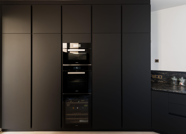 cucina nera total black fenix ntm parigi italian