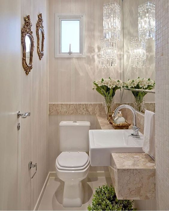 de 50 diseños de baños pequeños que te inspirarán baños - decoracion baos pequeos
