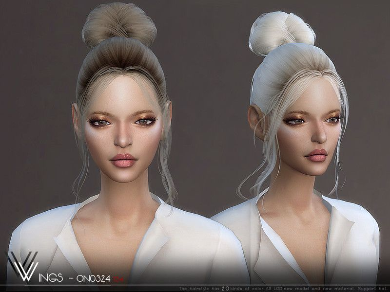 The Sims Resource Wings On0324 Hair Sims 4 Hairs Sims Hair Womens Hairstyles Sims 4