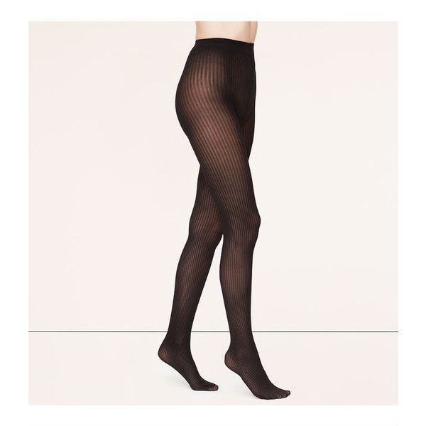 57dd950e260 LOFT Sheer Ribbed Tights (77 EGP) ❤ liked on Polyvore featuring intimates