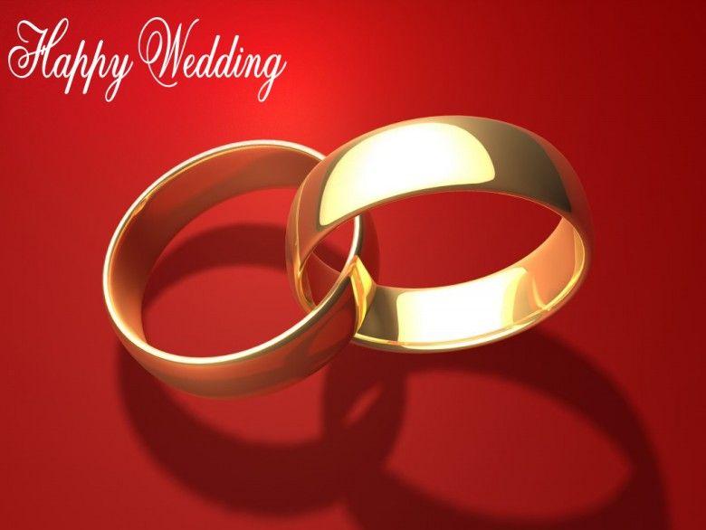 Happy Wedding Engagement Invitations Wedding Rings Red