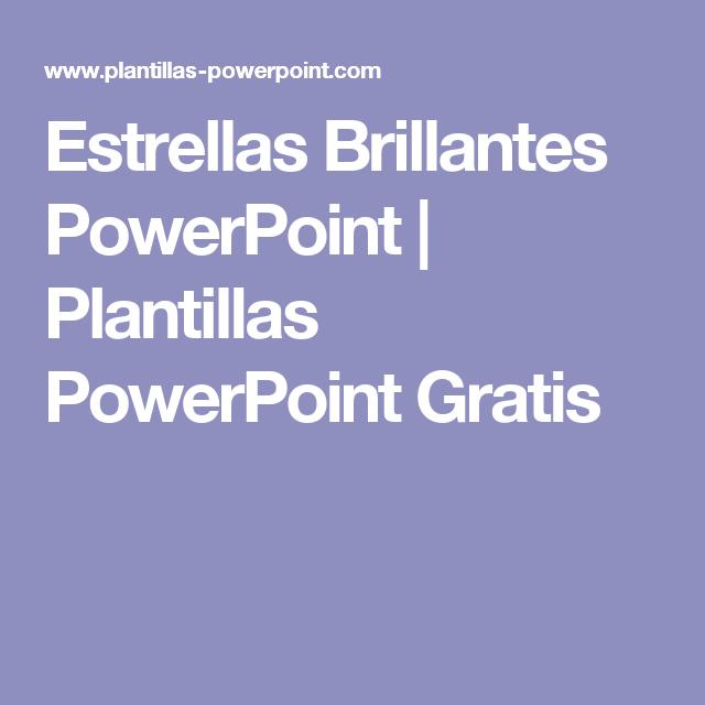 Estrellas Brillantes Powerpoint Plantillas Powerpoint Gratis