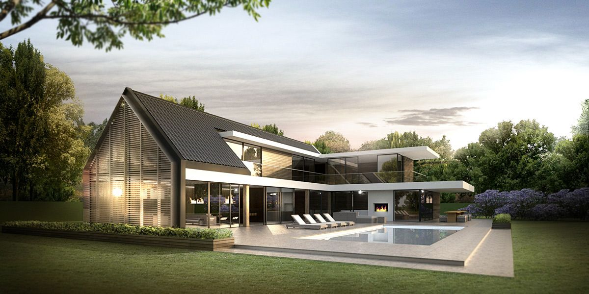 Denoldervleugels architects associates landelijk for Moderne villa