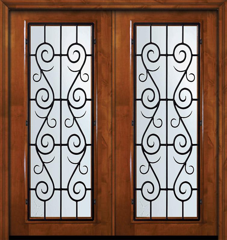 36 X 80 Double Full Lite St Charles Alder Door Wood Exterior