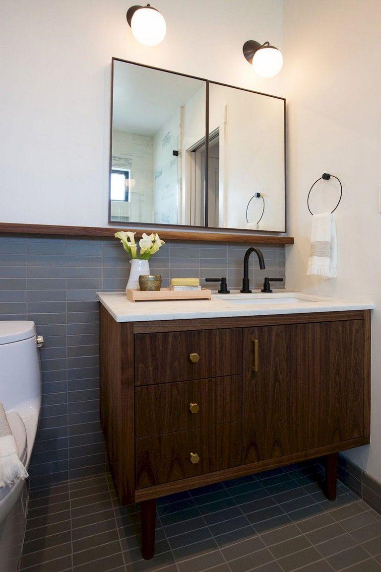 29 Amazing Modern Mid Century Bathroom Remodel Ideas Bathroom Bathroomremodel Bathroomremodeli Mid Century Bathroom Modern Bathroom Design Bathroom Design [ 1152 x 768 Pixel ]