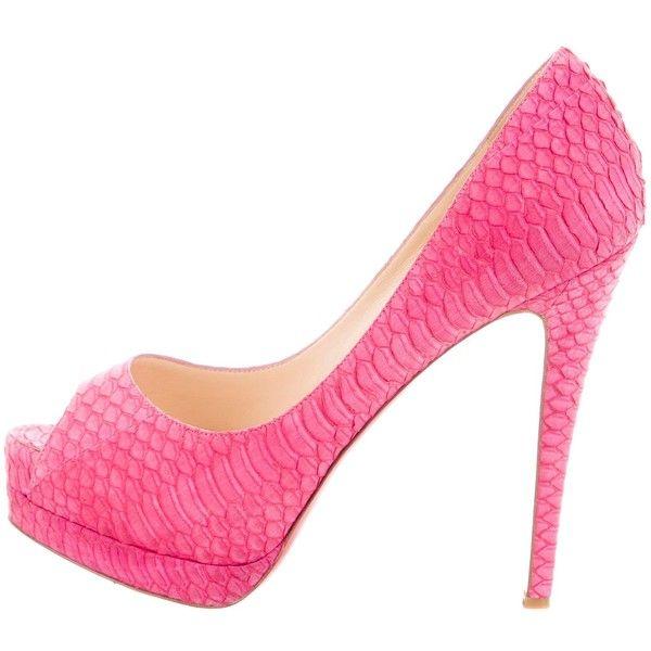 Pre-owned - Lady Peep python heels Christian Louboutin mqDoqx
