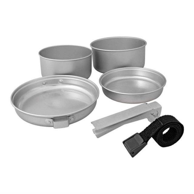 Milestone Aluminium Cook Set Camping 5 Pcs Include Saucepan Frying