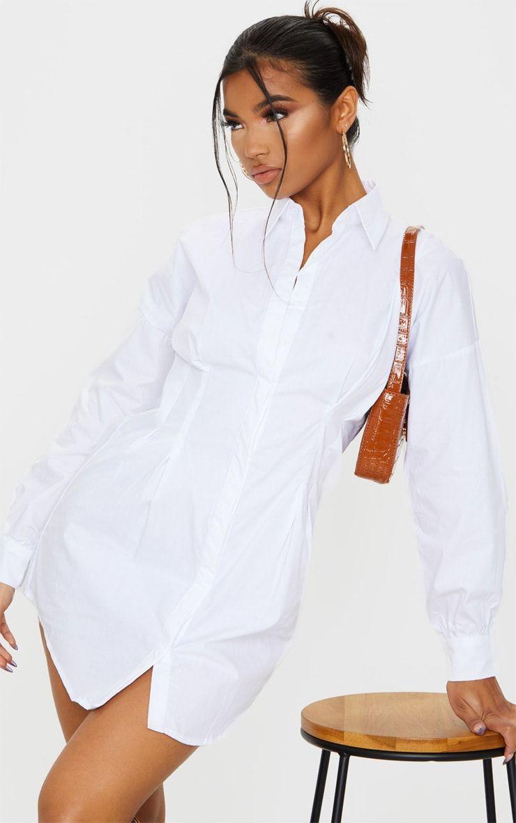 35++ White long sleeve shirt dress information