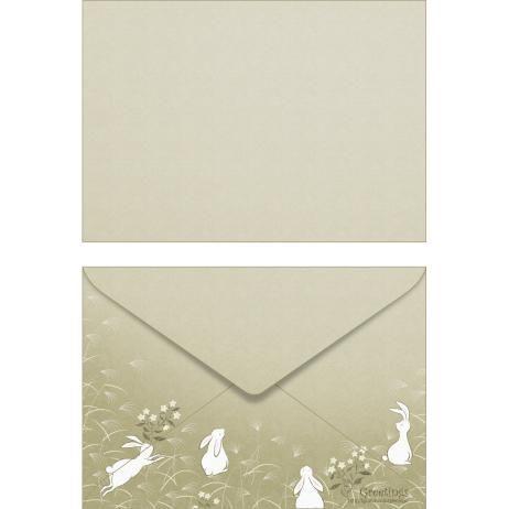 お月見 洋形2号0002,封筒,カード,グレー,多目的,洋形2号,月見