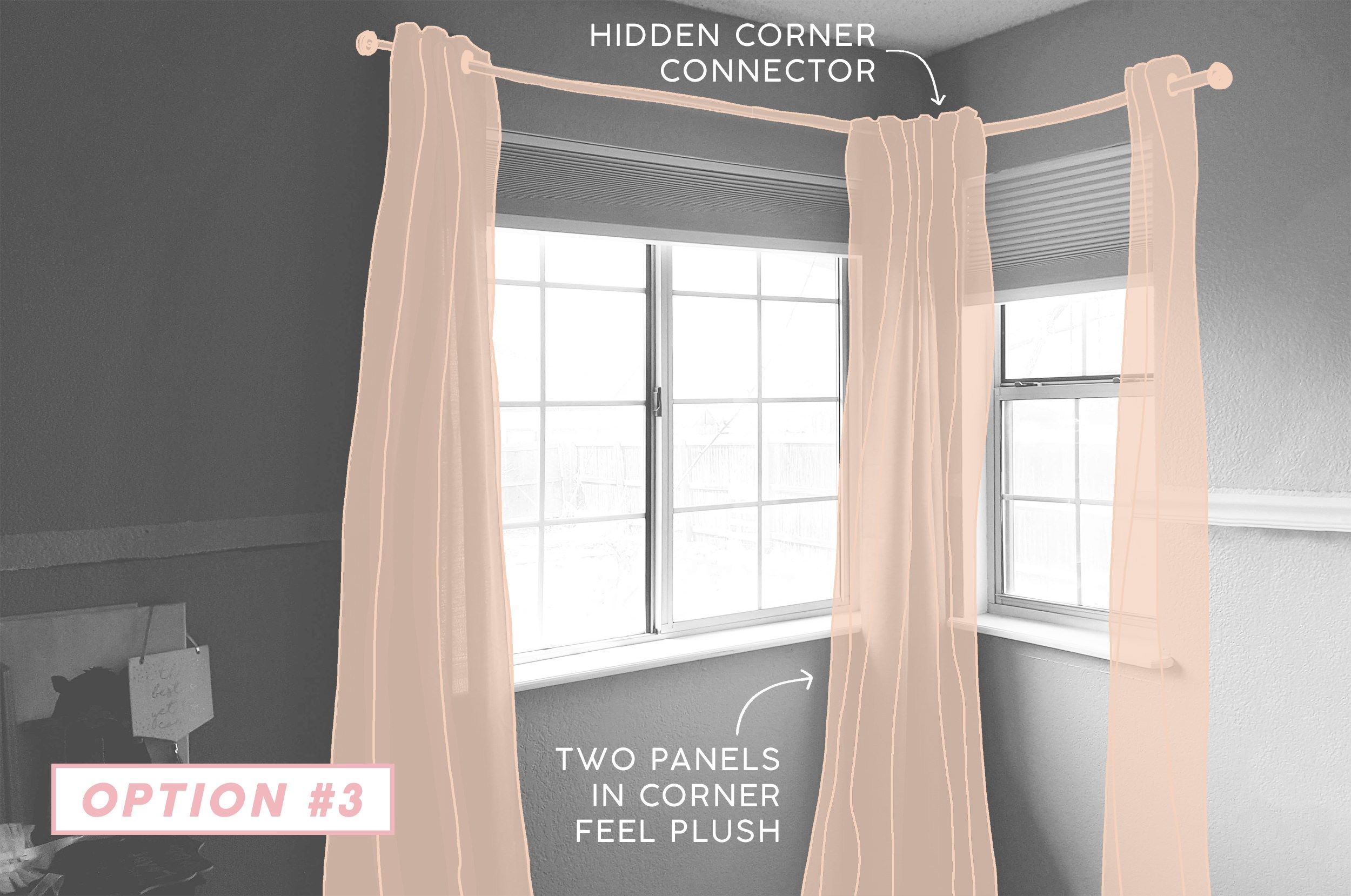 9 Solutions For How To Dress Awkward Windows Window Treatments Living Room Window Curtains Bedroom Corner Window Treatments