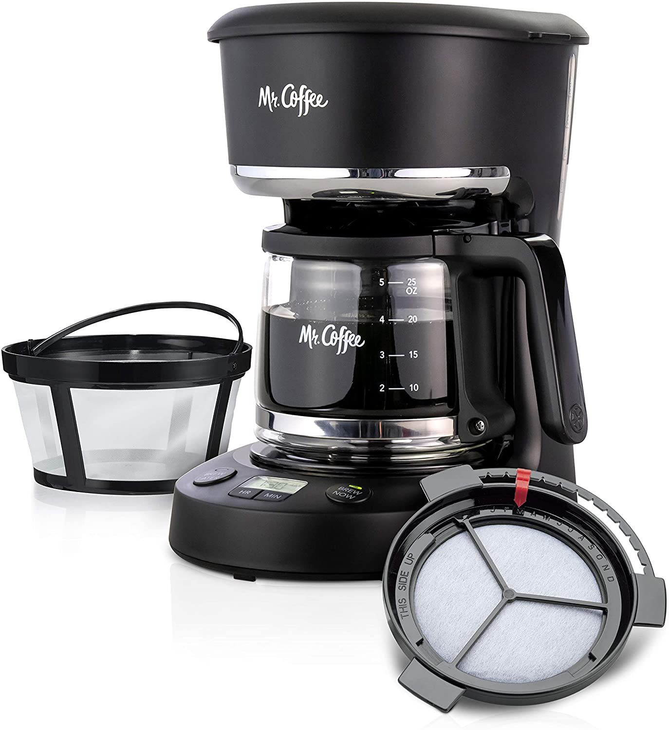 Mr. Coffee Programmable Brew Now or Later Coffee Maker in