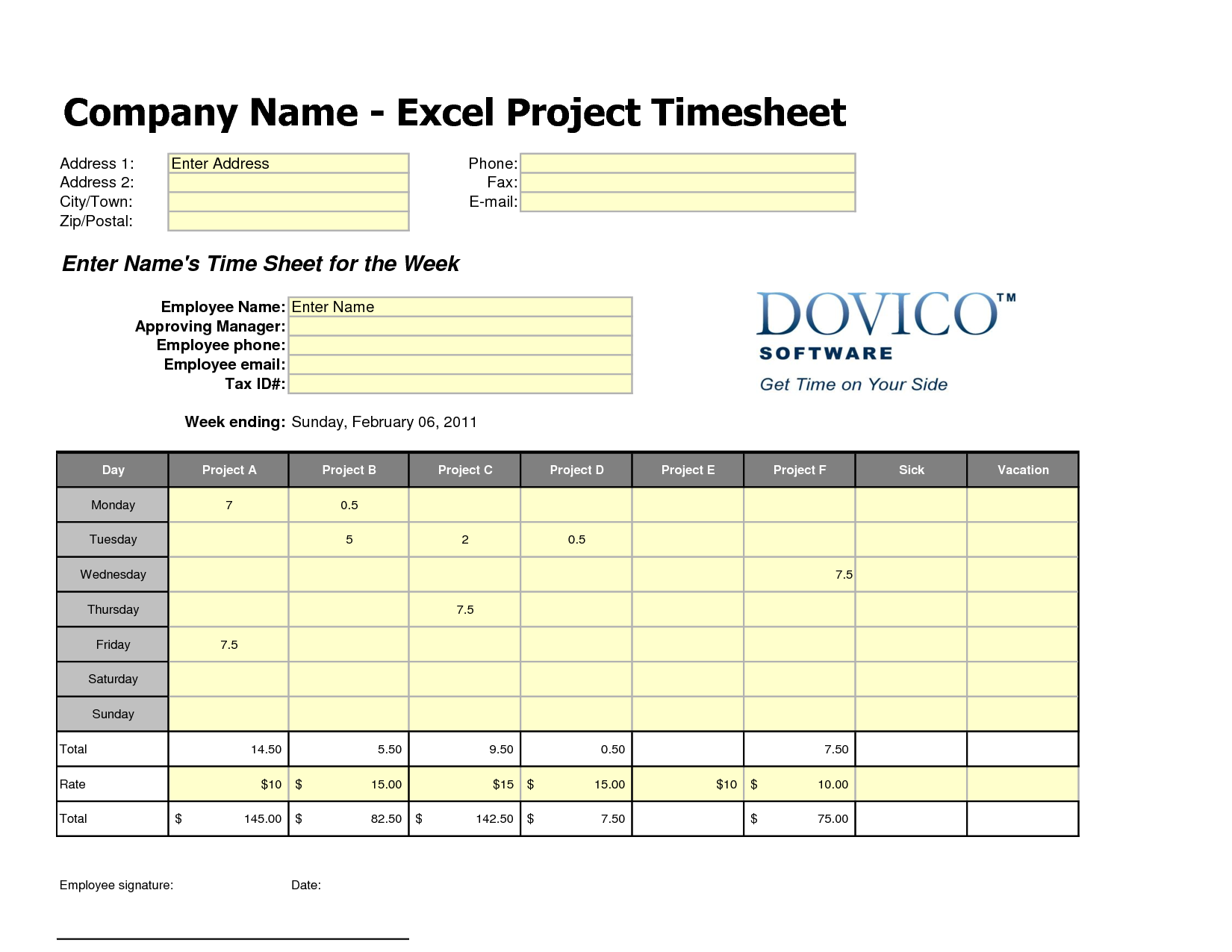 employee timesheet template in excel places to visit