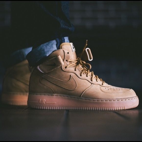 SUPER RARE Nike Air Force 1 Wheat NWB won t find these anywhere...look like  timbs but are Air Force 1 s. boys sz 5.5 a4f792b33