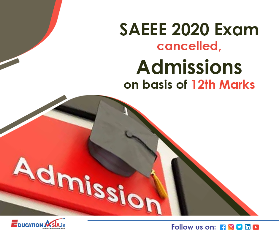 SAEEE 2020 in 2020 Admissions, Education related, Merit
