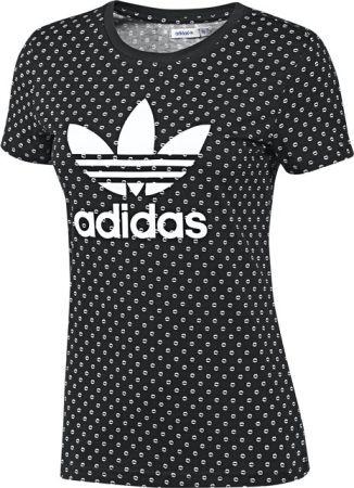 adidas trefoil t shirt with lip print