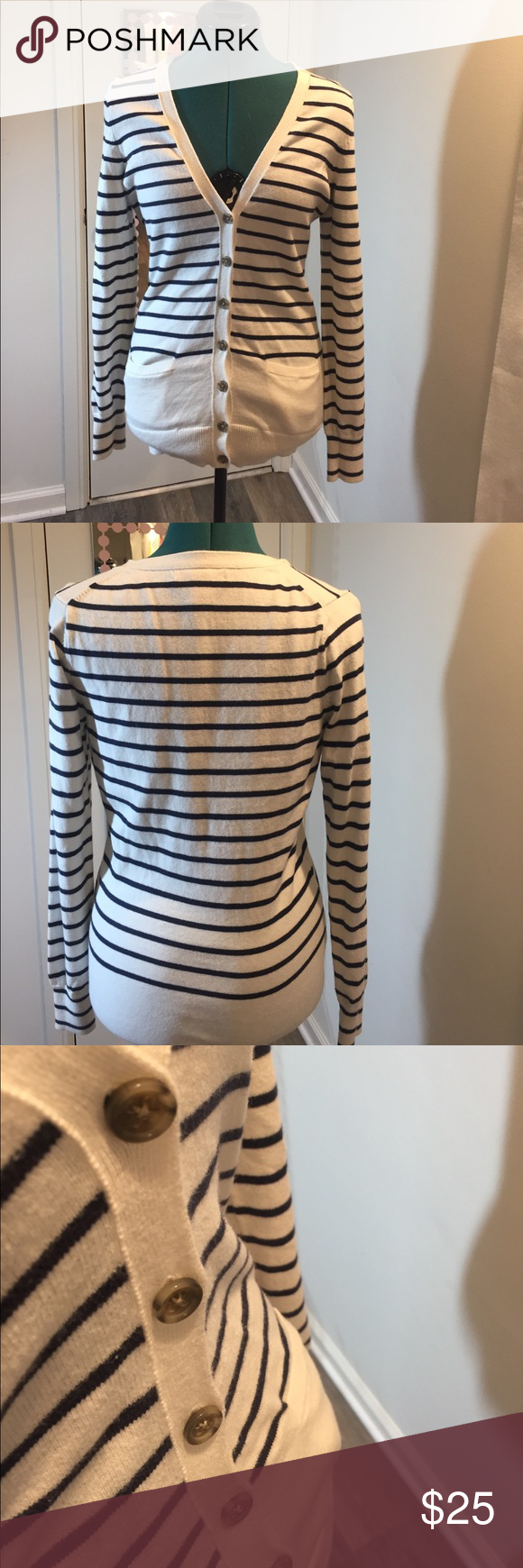 ⚡️Sale⚡️Banana Republic blue-white striped sweater | Banana ...